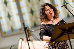 Agata Zubel als Komponistin und Interpretin beim Konzert zum Erste Bank Kompositionspreis