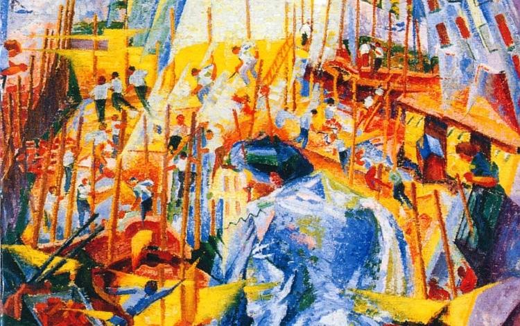 Umberto Bocciono - La strada entra nella casa (1911)