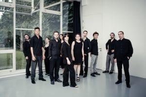 Hier sollte ein Bild vom Ensemble Schallfeld (© Wolf Silveri) stehen
