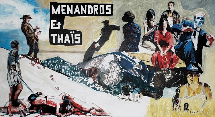 "Plakat ""Menandros und Thaïs"""