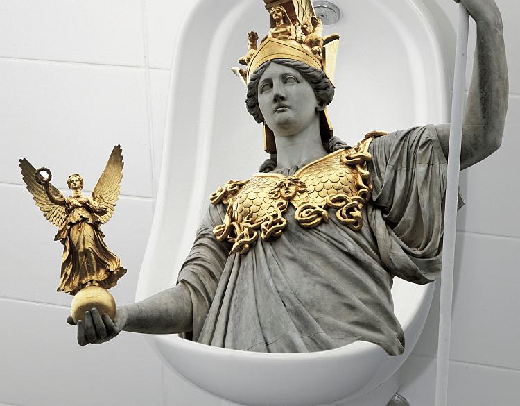 Pallas Athene weint Sujetcollage