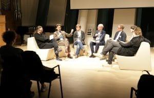 Gerfried Stocker, Philippe Narval, Svea Schenkel, Hans Georg Nicklaus, Oliver Hödl, Maximilian Whitcher, Norbert Trawöger (v.l.n.r.)