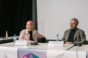 "Waves Vienna Conference 2019: ""Banning Content of Dubious Performers"" Maria Scharl, Ivan Novak (c) Matthias Schuch"