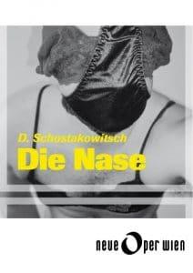 """Hier sollte das Plakat für Inszenierung von """"Die Nase"""" durch die Neue Oper Wien an der Kammeroper stehen."""